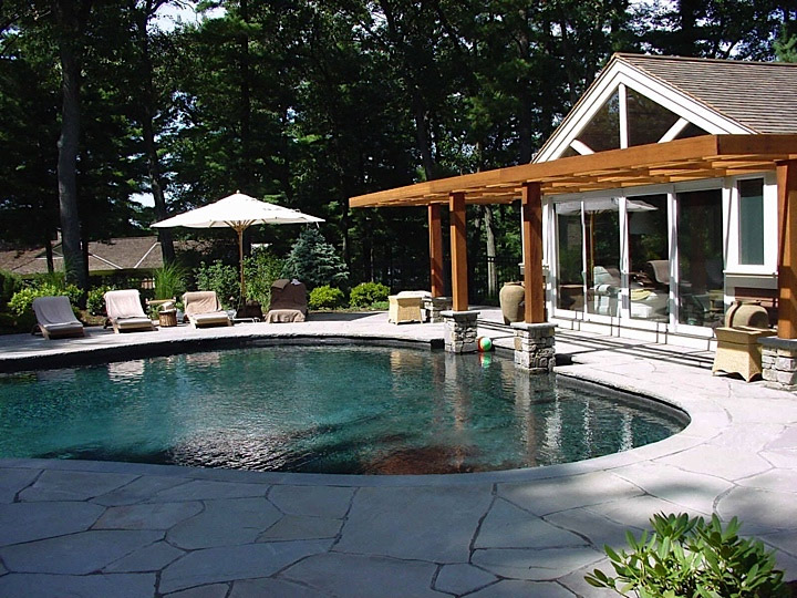 Custom home additions renovations guest house and pool Pool house guest house plans